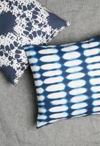 Sixth Floor - Shibori cushion cover - blue