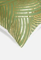 Sixth Floor - Fish scale cushion cover - green & gold
