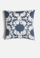 Sixth Floor - Batik cushion cover - blue