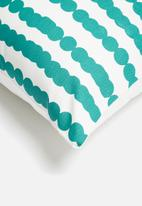 Sixth Floor - Dot line cushion cover - green