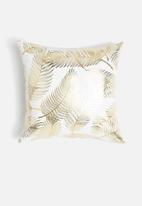 Sixth Floor - Leaf pattern cushion cover - gold