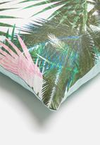Sixth Floor - Tropical cushion cover - green & pink