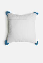Sixth Floor - Cosmo cushion cover - grey & blue