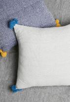 Sixth Floor - Cosmo cushion cover - grey & blue