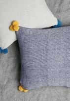 Sixth Floor - Cosmo cushion cover - blue & mustard