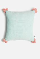 Sixth Floor - Cosmo cushion cover - blue & pink