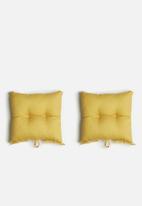 Sixth Floor - Outdoor seat cushion set - mustard