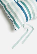 Sixth Floor - Outdoor seat cushion - blue stripe