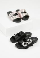 Superbalist - Celia jewelled slide - black