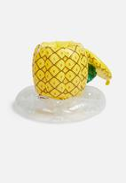 Big Mouth - Pineapple inflatable cooler - yellow