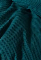 Linen House - Deluxe waffle duvet cover - teal