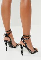 Superbalist - Emma dotted heel - black & white