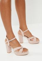 Superbalist - Becca strap block heel - pink