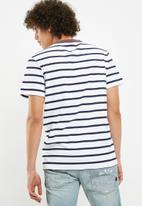 G-Star RAW - Sartho stripe tee - navy & white