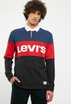 Levi's® - Blocked rugby polo - blue & red