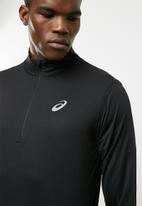 Asics - Silver 1/2 zip top - black