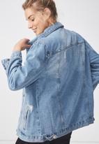 Supré  - Vintage boyfriend denim jacket - blue