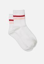 Supré  - 90s Sport crew socks - multi