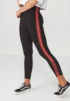 Supré  - Graphic legging - black & red