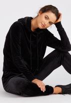 Supré  - Velour hoodie - black