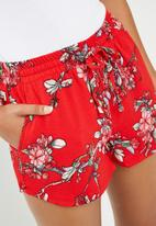 ONLY - Turner woven shorts - red
