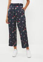 ONLY - Wanaka palazzo woven pants - navy