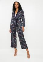 ONLY - Wanaka long sleeve woven kimono - navy