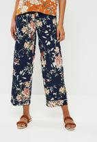 ONLY - Terra wide woven pants - blue