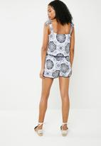 ONLY - Summer strap woven playsuit - white
