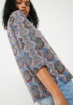 ONLY - Nova woven 3/4 sleeve top - multi