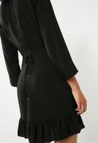 ONLY - Laura wrap dress - black