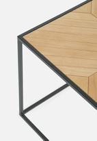 Sixth Floor - Ortiz coffee table - black