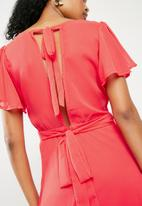 ONLY - Kate midi dress - red