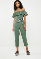 ONLY - Frill jumpsuit - green