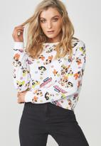 Supré  - Power puff cropped sweat - white