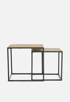 Sixth Floor - Ortiz nest tables - black