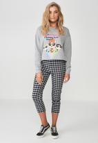 Supré  - Power puff cropped sweat - grey