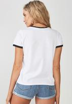 Supré  - Power puff ringer tee - white