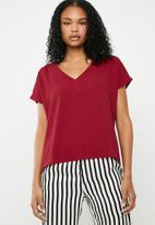 Superbalist - V-neck blouse - red