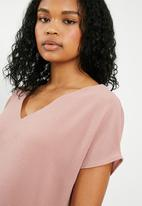 Superbalist - V-neck blouse - dusty pink