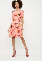 Vero Moda - Katy frill midi dress - multi
