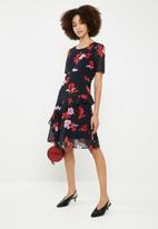 Vero Moda - Katy frill midi dress - multi