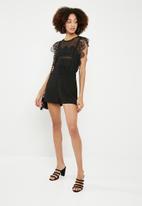 ONLY - Eduna lace playsuit - black