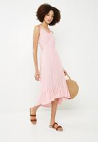 ONLY - Sailor midi dress - pink & white