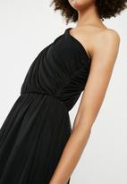 ONLY - One shoulder tulle dress - black