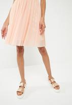 ONLY - One shoulder tulle dress - pink