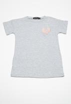 Superbalist - Kids girls embroidered frill top - grey