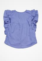 Superbalist - Butterfly sleeve blouse - blue