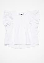 Superbalist - Butterfly sleeve blouse - white