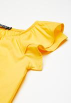 Superbalist - Ruffle sleeve blouse - yellow
